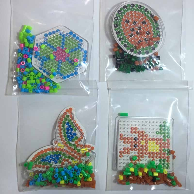 4 kom Puzzle Pegboards Uzorci s obojenim papirom Za 5mm Hama Perler - Igre i zagonetke - Foto 3