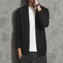New arrival Spring Men Cardigan Sweaters Long Sleeves V-neck Winter Outwear Cardigan Fashion Casual Male Sweater JW018
