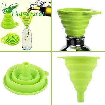 1 Pcs Kitchen Accessories Gadget Folding Funnel Telescopic Long Neck for Kitchen