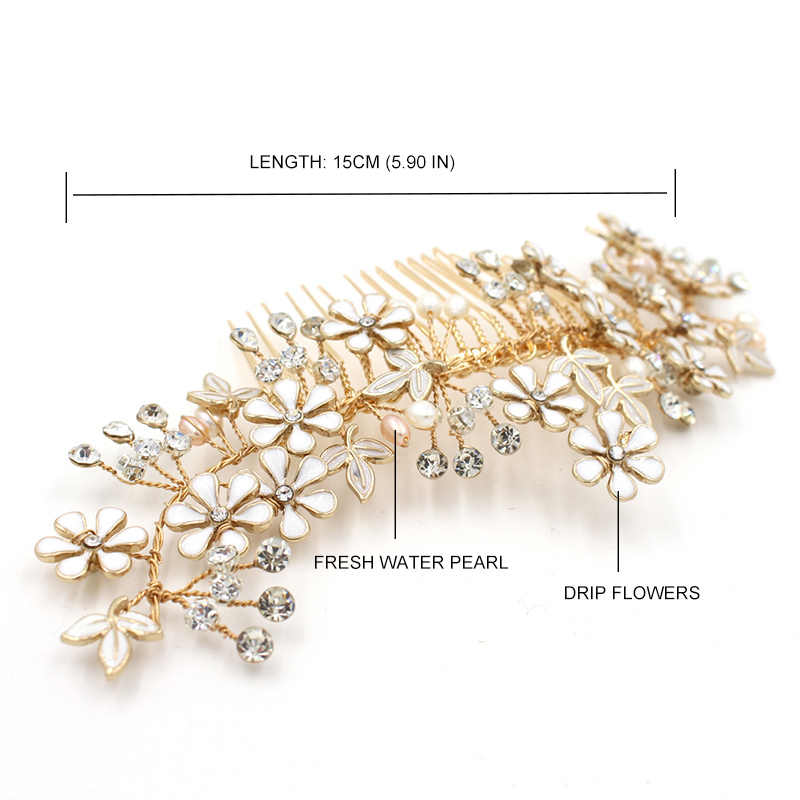 Floral adornos para el pelo accesorios para el cabello de boda agua fresca tiaras de novia enredadera para el cabello joyería hecha a mano boda