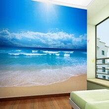 3 D Mural Wallpaper – Blue Sky Ocean Beach