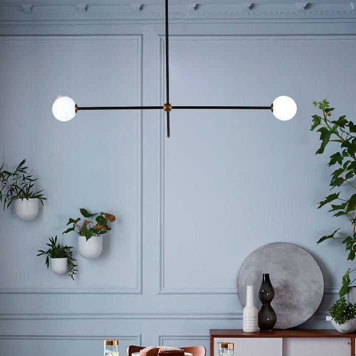 Moderne minimaliste Art décoration branche pendentif lumières lampes Design italien personnalité salon Restaurant lampes luminaires