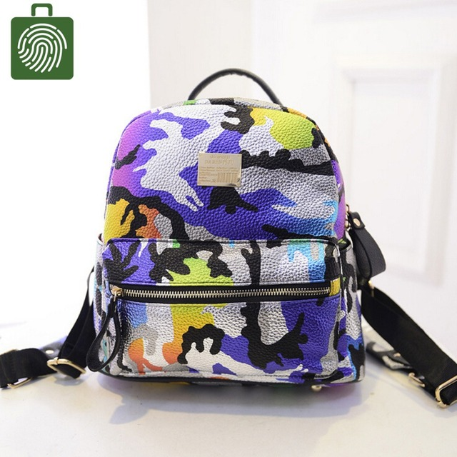 8ef632b74573 Rainbow color Camouflage Camo backpack Colorful sunny unique children  shoulders bags Mini kids girls boys travel bags