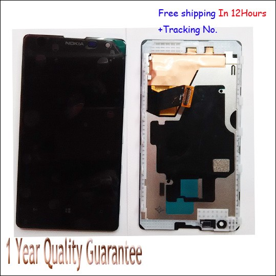 Best Quality!! Original For Nokia lumia 1020 Black Touch screen  Digitizer +LCD display with frame Test Ok +tracking number original guarantee for htc desire x t328e lcd disply touch screen panel digitizer with frame gold or black color best quality