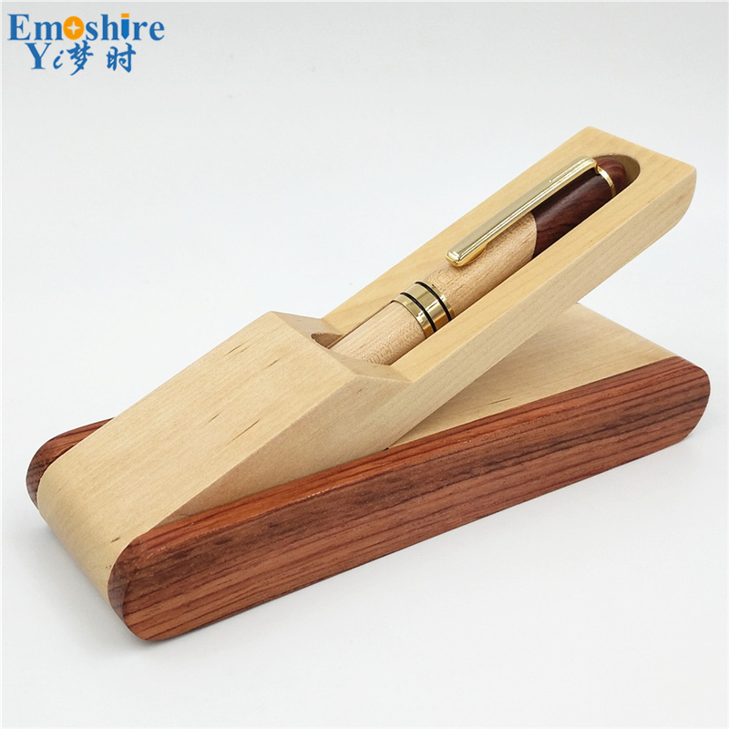 Emoshire Factory direct sales mahogany pieces of wood signature pen suits wooden pen box creative gift customization (11)