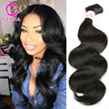8A Top Quality Unprocessed Human Hair For Braiding No Attachment Peruvian Body Wave 3pcs Human Braiding Hair Bulk Mixed Length