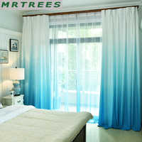 MRTREES Gradient Blackout Window Curtains for Living Room Kitchen Modern Tulle Curtains for Bedroom Window Curtain Fabric Drapes