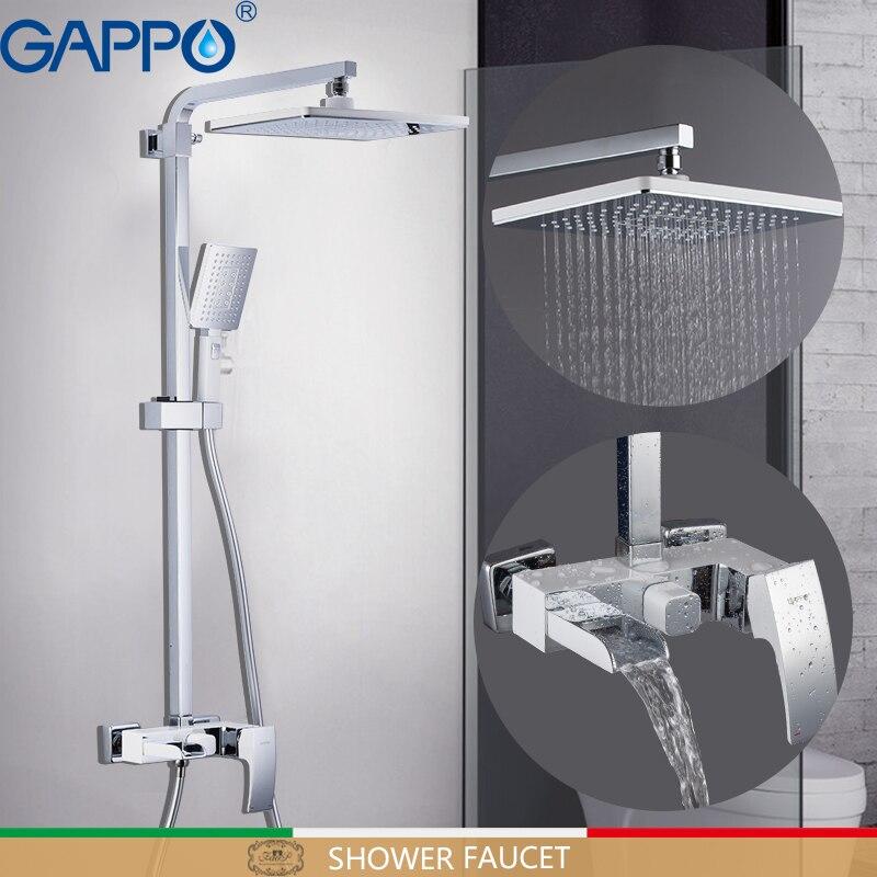 Go Shower Faucets Bathroom Faucet Set Bath Head Bathtub Waterfall Mixer Tap White