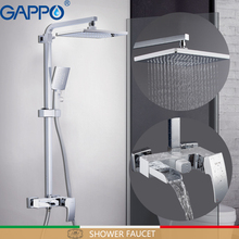 GAPPO Shower Faucets bathroom faucet shower set bath shower head bathroom bathtub faucet waterfall mixer tap white faucet gappo bathtub faucet water mixer shower set wall waterfall bathroom sink faucet tap restroom faucet in hand shower ga2207 5