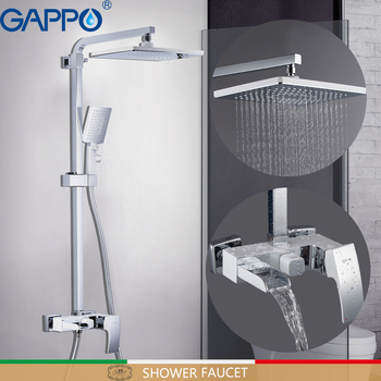 GAPPO Shower Faucets bathroom faucet shower set bath shower head bathroom bathtub faucet waterfall mixer tap white faucet gappo shower faucet bath mixer black massage shower faucets bathtub tap sets shower mixer torneira do anheiro shower faucet sets