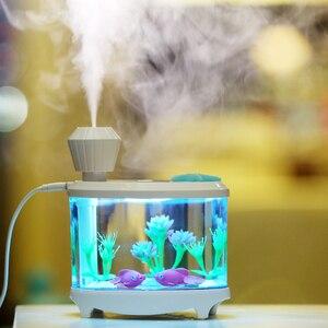 460 мл USB Увлажнители воздуха со светодиодной ночник воздуха ультразвуковой увлажнитель Эфирные масла Арома диффузор Mist чайник распылитель ...