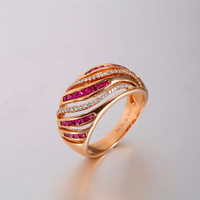 Engagement Rings Wholesale 18K Rose Gold Ring 100 Natural Burmese Ruby Women S Rings Precious Gems