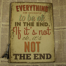 Motivational Typography Life Quotes Poster Home Decor Matte Kraft Paper Vintage Poster (China)