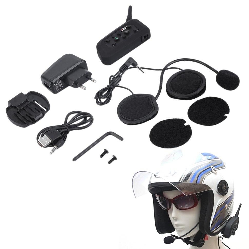 V6 1200 m Bluetooth Intercom pour Casque de Moto Casque Interphone UE Plug