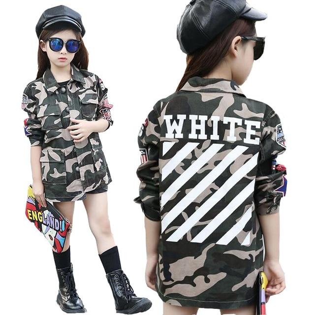 Online Shop Children Camouflage Jackets For Girls Streetwear ...