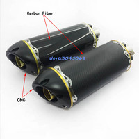 BN600 For American Motor Brothers R1 Benelli CBR Motorcycle Exhaust CNC Carbon R6 36 51mm Universal Fiber Pipe Modified