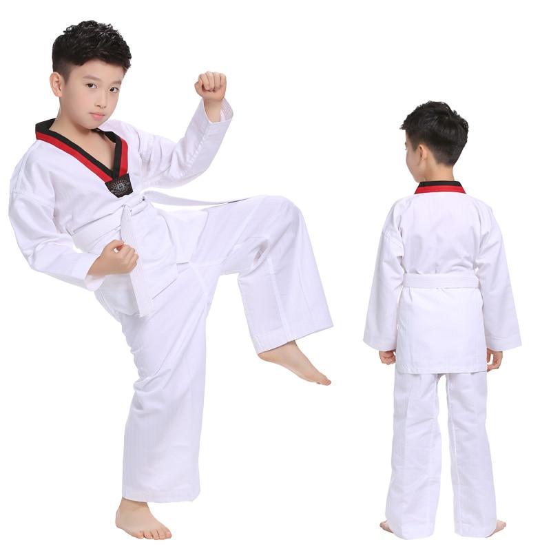 מקצועי לבן לנשום כותנה טאקוונדו מדים - בגדי ספורט ואביזרים