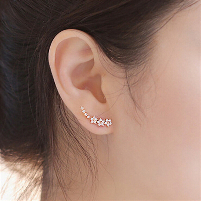 Women's Ear Crawlers with Rhinestones