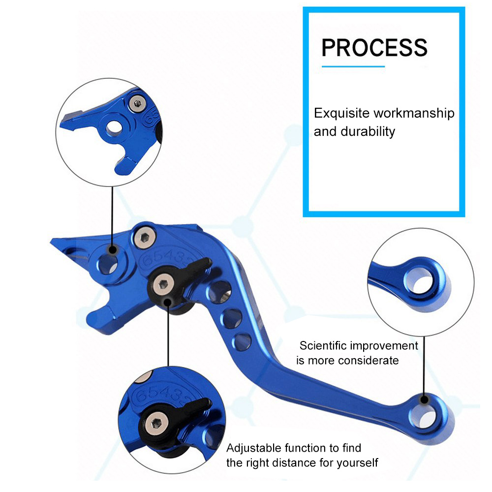 Image 5 - 1 Pair Universal Motorcycle Modification Parts Brake Clutch Six speed CNC Handle Horns Hand Brake Clutch Motorcycle Accessories-in Levers, Ropes & Cables from Automobiles & Motorcycles