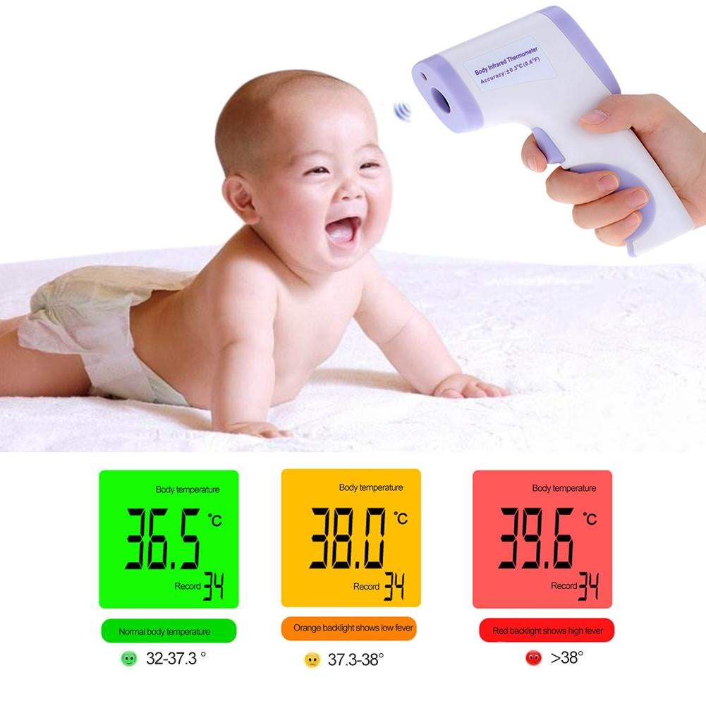 Medical Human Body Non-Contact Infrared Thermometer 3 Colors Electronic Thermometer Digital Pyrometer For Infants & Young 1PC J3 100% original af110 professional portable human body infrared thermometer