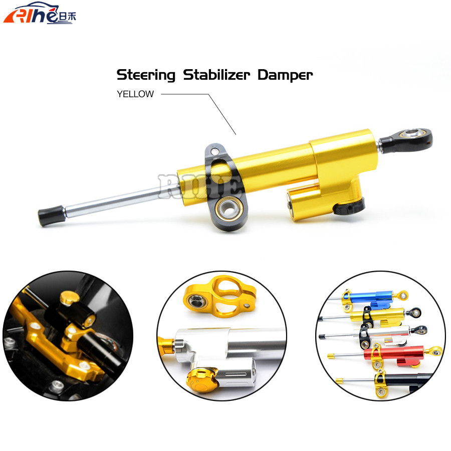 Universal Motorcycle CNC Stabilizer Linear Reversed Safety Control Steering Damper For Honda VFR1200F PCX150 Ducati HyperStrada 3 colors universal motorcycle steering damper black color cnc aluminum stabilizer linear reversed safety control motorcycle