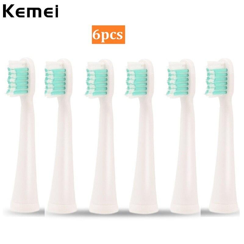 6 stücke Sonic Elektrische Zahnbürste Köpfe Dupont Weichen Borsten Dental Care Ersatz Sauber Teethbrush Köpfe Düsen für Oral Hygiene