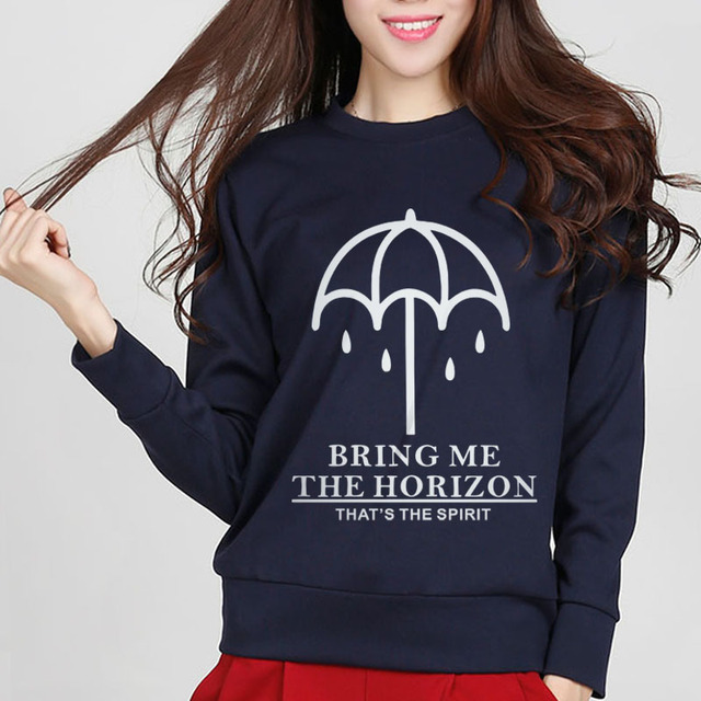 2018 fashion long sleeve sweatshirt BRING ME THE HORIZON women kawaii hip hop femme harajuku fleece hoodie brand clothing slim