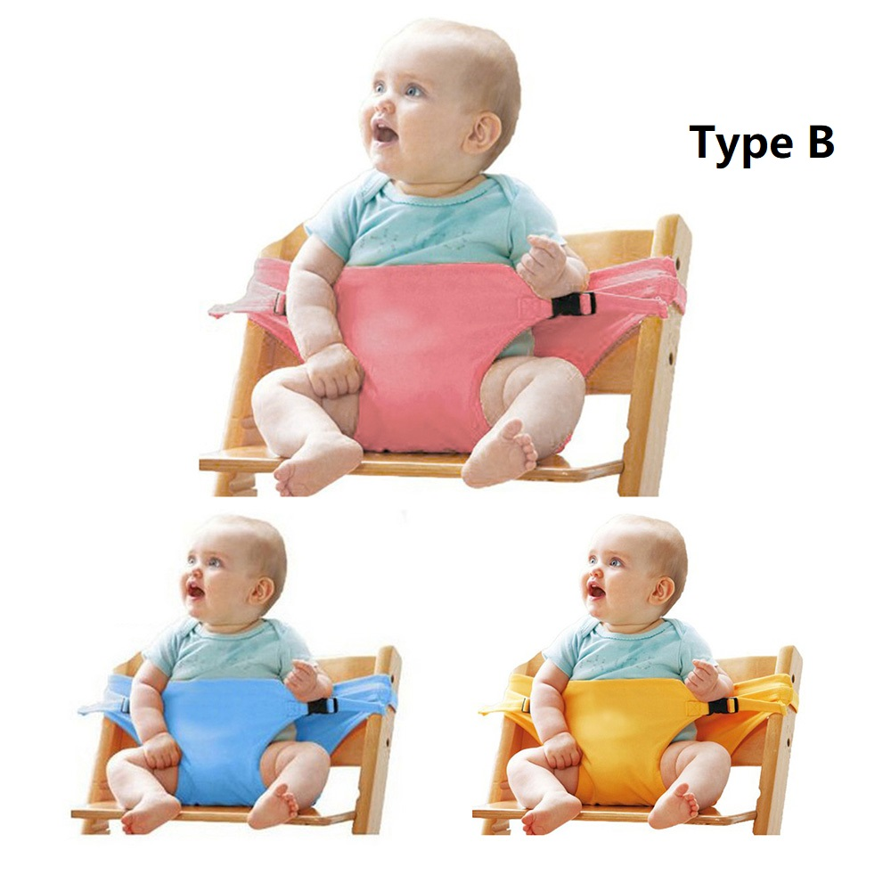 Купить с кэшбэком Travel Foldable Baby Dining Lunch Chair Portable Infant Feeding Seat Safety Belt Washable Baby Seats High Chair Harness 4 Colors