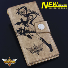 Totoro ONE PIECE NARUTO Tokyo Ghoul Attack on Titan wallet cartoon long leather pu men/women Purses (20 style)