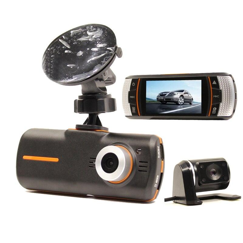 imágenes para A1 Coche DVR de Doble Cámara de Caja Negro Coche DVR de la Cámara Hd 1080 P Dash Cam visión Nocturna Pantalla de 2.7 pulgadas GPS Logger Visión Trasera cámara
