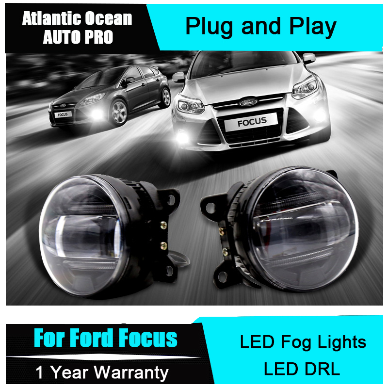 Auto Pro Car Styling LED fog lights For Ford Focus led DRL with lens LED front fog lamp and daytime running light LED bar light car led drl daylight daytime running lights car styling car fog lamps cover driving light for ford focus mk3 hatchback 2009 2013