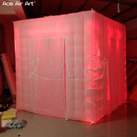 2.4m wholesale LED cabinet pop up photo booth backdrop,professional social booth enclosure with 8 pcs spotlights For Brazil