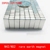 20PCS 20*7*4mm permanent NdFeB magnet N52 N42 block magnets 20X7X4MM