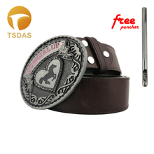 Belt Buckle Metal 100*77mm Horse Mens Luxury Cowgirl Up Animal Belt Buckles Christmas Gifts Free Shipping