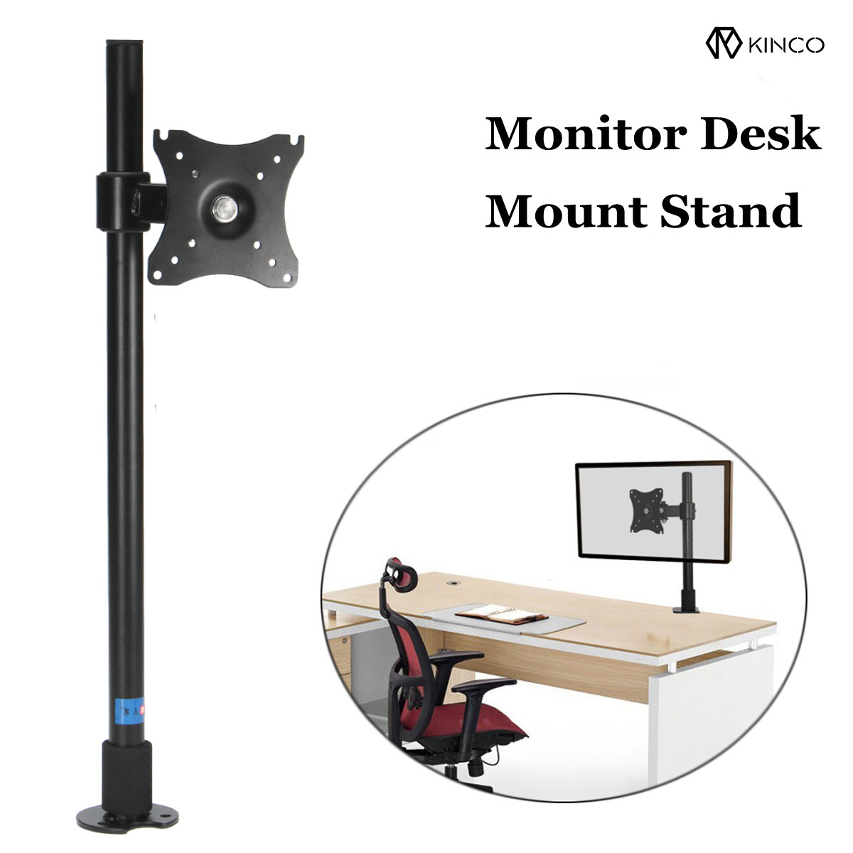 Monitor Stand Rotation Double Arm Adjustable Desktop Holder for Computer Monitor within 14-27 Inch TV Mount Bracket Clamp