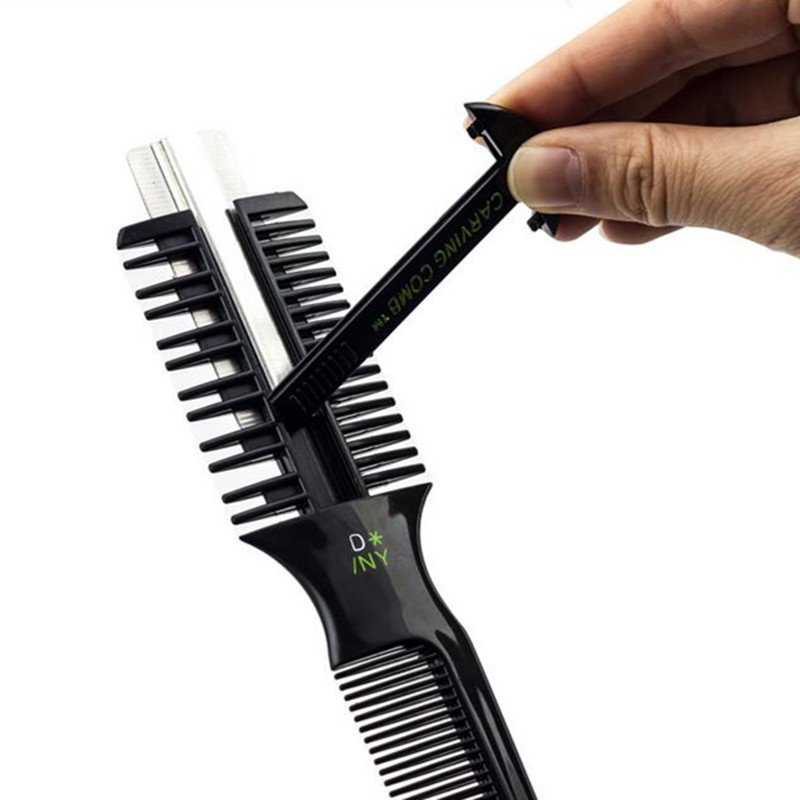 1 pcs new professional hair razor comb shaving blades cutting