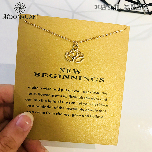Dogeared Lotus Statement Gold Chain Pendant Necklace Choker Jewelry