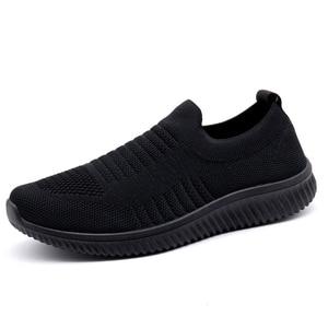Image 2 - STQ 2020 סתיו נשים מקרית סניקרס דירות נעלי רשת תחרה עד נעלי ספורט Tenis Feminino מוקסין מטפסי אישה שטוח נעלי 003