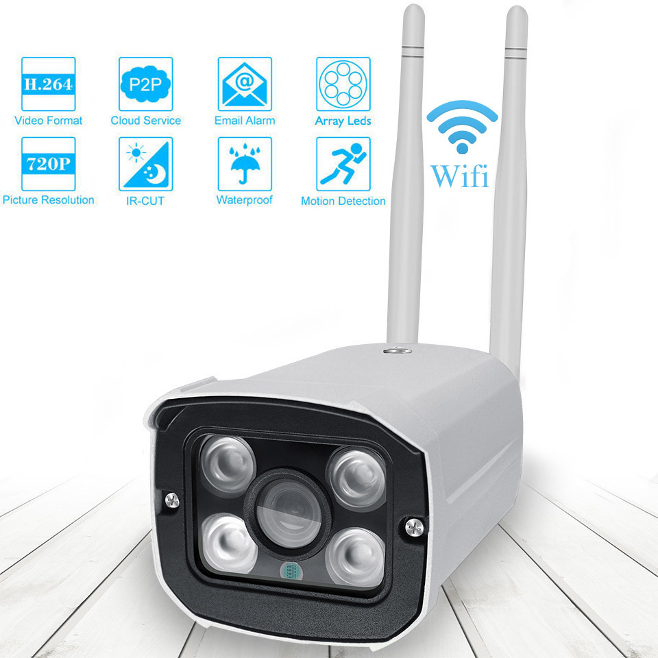 720P Wifi CCTV Camera Outdoor Bullet IP Camera Security Surveillance Camera Waterproof Audio Record Wireless Home IP Cam720P Wifi CCTV Camera Outdoor Bullet IP Camera Security Surveillance Camera Waterproof Audio Record Wireless Home IP Cam