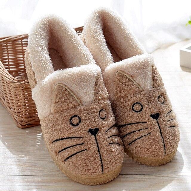 Теплые ботинки с милым котом, Женская семейная Рождественская хлопковая зимняя обувь, женские ботинки, Прямая поставка