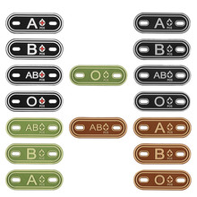 2 PC Hunting accessories 3D PVC A+ B+ AB+ O+ Positive Blood Type Group Patches Tag Tactical Military Rubber Badges for Bag Shoes monospecific anti b antibody and abo blood group