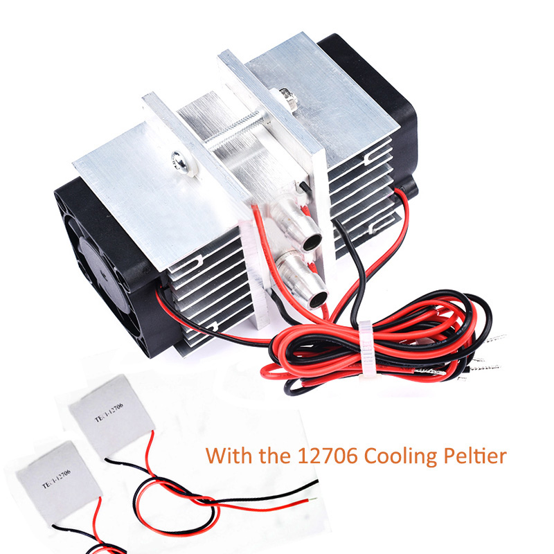 Semiconductor Refrigeration Chip Kit Diy Refrigerator Small Air Conditioning Water Cooled 12V Chiller With 2PCS 12706 Peltier