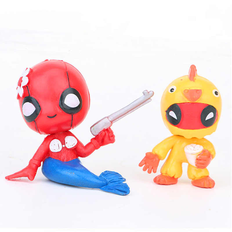 6 CM 12 pçs/set Os Vingadores Deadpool X-Men Action Figure Estátua PVC Bonito Multi-styling Ver Modelo decoração Brinquedo Saco Do Opp H346
