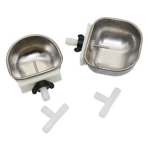 Image 4 - 25 Pcs Anti scratch Rabbit Stainless Steel Automatic Drinking Cup Raising Rabbit Fox Mink Drinking Water Bowl Rabbit Breeding