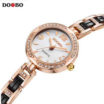 Fashion luxury brand Women's Bracelet Watches casual ladies quartz watch Alloy Crystal Wristwatch Gift Gold Dress Relojes mujer