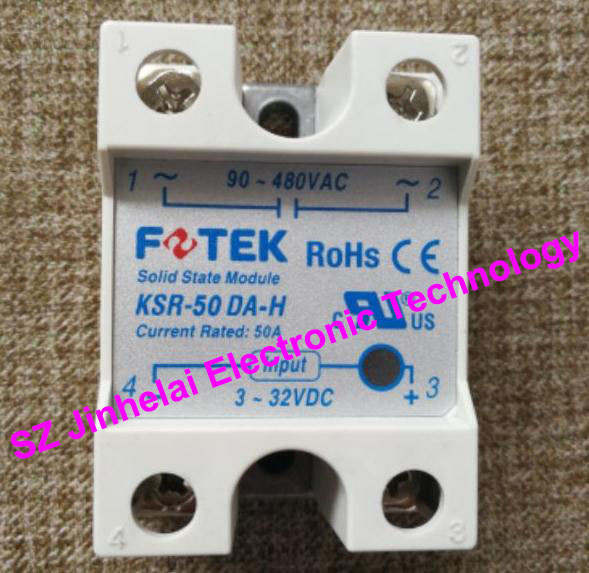 New and original FOTEK Economical solid state relay  KSR-50DA-H   50A   90-480VAC   3-32VDC 100% new and original fotek photoelectric switch a3g 4mx mr 1 free power photo sensor
