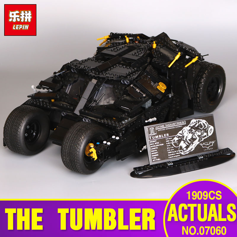 LEPIN 07060 Genuine Super Hero Movie Series The Batman Armored Chariot Set legoing 76023 Educational Building Block Brick Toys lepin 07060 super series heroes movie the batman armored chariot set diy model batmobile building blocks bricks children toys