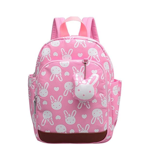 Cute Anti Lost Kids School Bags Rabbit Bear Dolls Lique Canvas Backpack Mini Baby Toddler