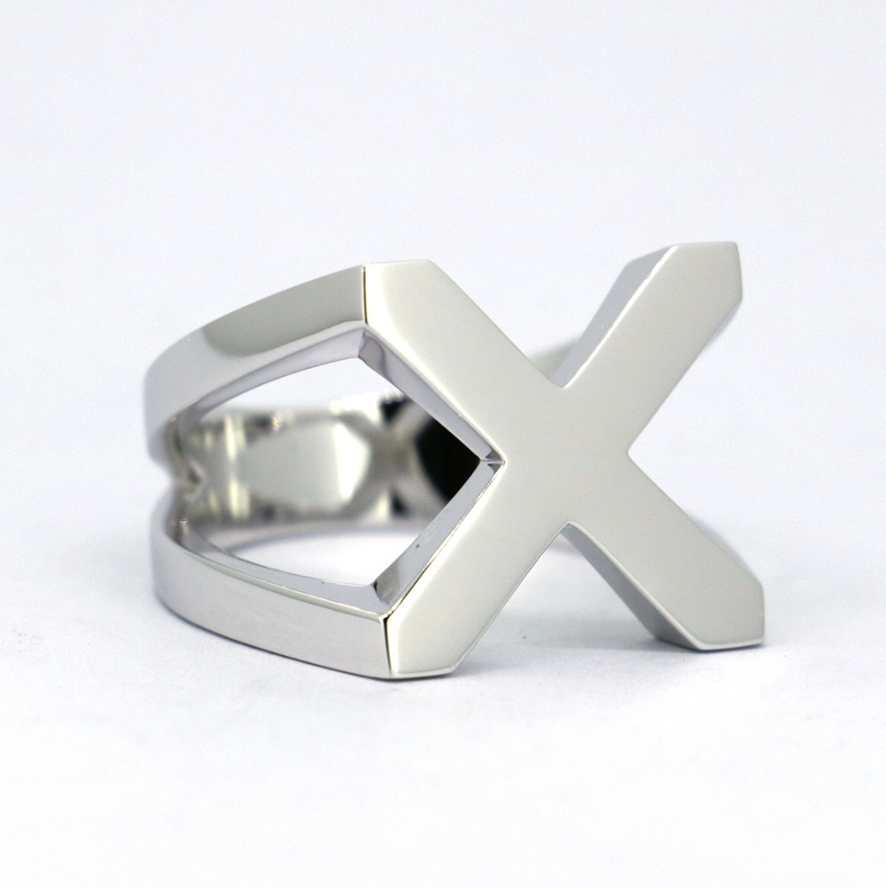 Wellmade Solid 925Sterling Silver X Classic Cross Ring цена и фото