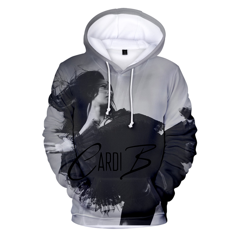2019 New Arrival Fashion Kpop Hip Hop Rapper Cardi B 3d Hoodies Girl Boy Sweatshirts Men Women 3d Pullovers Warm Clothes Spring